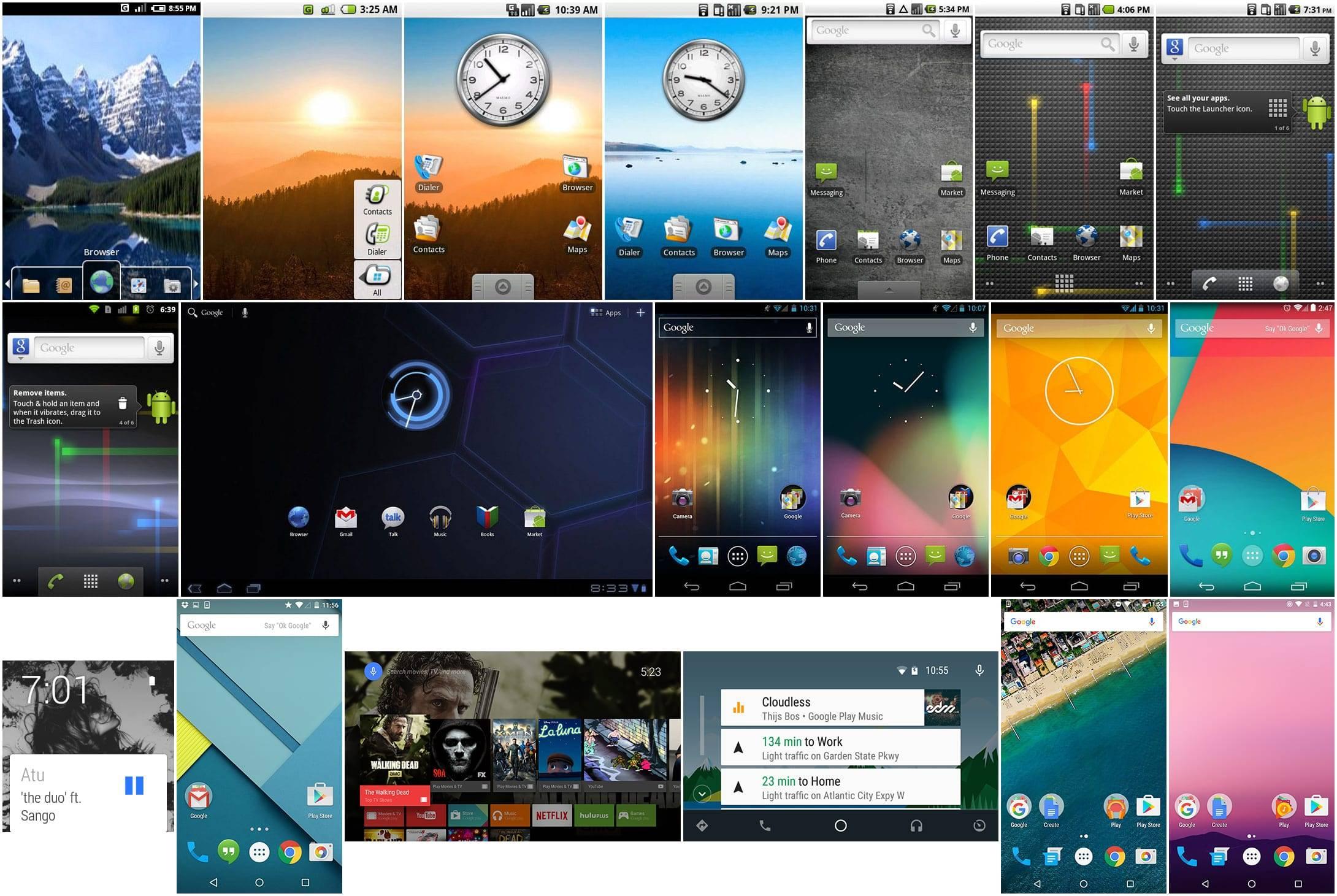 14 Perkembangan OS Android Sejak Cupcake Hingga Pie