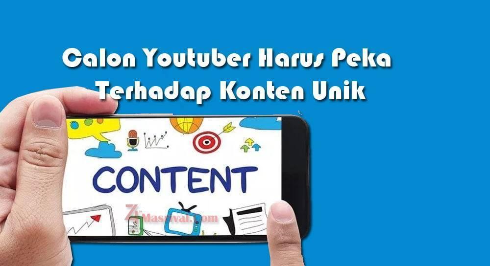 Calon Youtuber Harus Peka Terhadap Konten Unik